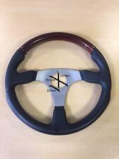 Volante S6 Sport Steering Wheel, with Chrome Spokes & Mahogany/Black Leather