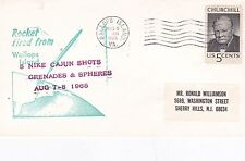 United States 1965 Nike Cajuns Rocket Launched 9th Aug FDC VGC D