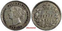 Canada Victoria Silver 1893 5 Cents KM# 2