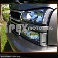 [BLACK] 2003-2006 Chevy Silverado 1500 2500 3500 Head Light+Signal Bumper Lamp