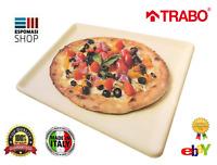 PIASTRA PIETRA REFRATTARIA PIZZA COTTURA FORNO 35 X 34 MADE IN ITALY TRABO