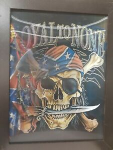 3 Dimension 3D Lenticular Picture With Frame rebel skull southern discomfort