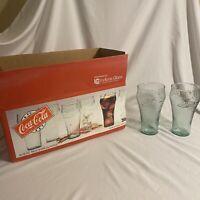 Vintage 1995 Indiana Glass Coca Cola Bell Glasses set of 8 - 16 oz bell glasses