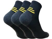 3 Pairs Men/'s Trainer Socks Plain White UK 6-11 EU 39-45
