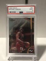 1998 Topps Finest #81 Michael Jordan Chicago Bulls  PSA 9 MINT HOF Legend 🔥🏀🐐