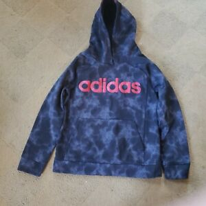 Adidas youth hooded sweatshirt  14/16 Blue Black camo