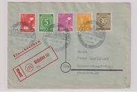 Gemeinsch.Ausg. Mi.928 u.a., R-Selbstbucher Weißenhorn (eingedruckt), OWS 5.5.48