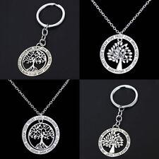 Unisex Retro Life Tree Necklace Charm Jewelry Pendant Keyring Keychain Gift