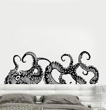 Vinyl Wall Decal Tentacles Octopus Kraken Marine Monster Stickers (ig4299)