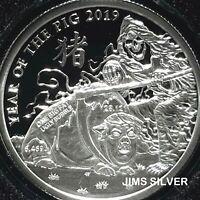 1004 IN STOCK 2019 Silver Shield ORGANIZED CRIME 1 oz Silver PROOF /& COA /& BOX