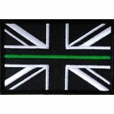 Thin Green Line Union Jack Hook Loop Backed Patch Small Ambulance Paramedic