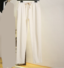 Loose cotton linen Pure color women's casual pants Long pants  16 color