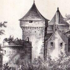 Château de la Rivière Fronsac Lithographie Gironde Nouvelle Aquitaine