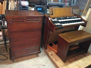 '61 A-100 Hammond Organ, Bench, Pedalboard, & 251 Leslie Speaker, One Owner