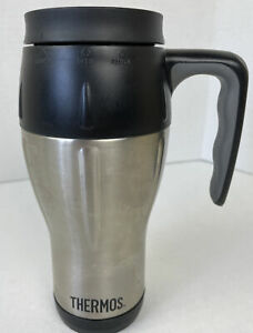 Thermos 16 oz Stainless Steel Travel Mug by Thermos, Double Wall Insulated