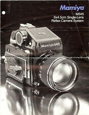 MAMIYA M645 6x4.5cm SINGLE LENS REFLEX CAMERA SYSTEM BROCHURE -MAMIYA