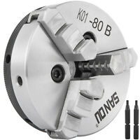 3 Jaw self centering  Lathe Chuck --- 80mm K01-80B  Repeatability Wood Turning