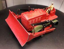 Dinky Mecanno No.561 Blaw Knox Bulldozer Red, dark green tracks, driver 1949-54