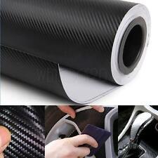 127cm*30cm 3M Carbon Fiber Black Vinyl Auto Car Wrap Roll Film Sticker 2017