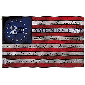 Anley 3x5 Ft 2nd Second Amendment Flag 2nd Amendment American Flag