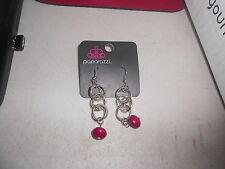 Paparazzi Earrings (new) LOOPS & LOOPS DANGLE W/WINE BEAD