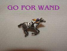 GO FOR WAND BREEDERS CUP HAND PAINTED HORSE RACING JOCKEY SILKS PIN