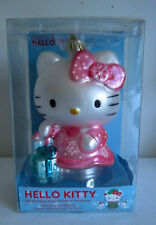 Hello Kitty Glass Christmas Ornament Kurt Adler Sanrio 2012 Large New In Box