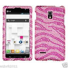 LG Optimus L9 T-Mobile P769 Diamond Case Cover Accessory Pink Zebra