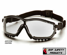 PYRAMEX V2G SAFETY GLASSES / GOGGLE HYBRID CLEAR ANTI-FOG LENS GB1810ST Z87+