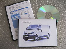 RENAULT TRAFIC OWNERS MANUAL HANDBOOK - CD / 2001 - 2014 SPECIFICATION  X83