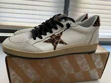 Golden Goose Ball Star leopard-print leather sneakers Size 41 Euro 10 Women's