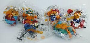 "Dairy Queen Kids Toys ""Garfield"" Odie Complete Set of 6 1999 MIP"