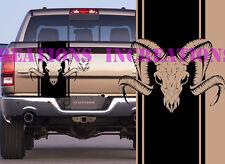 Hemi Dodge Ram Back Stripe Skull Truck Decals Mopar Stickers  Racing Graphics