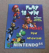 Mario Kart Donkey Kong Store Display Poster Promo Promotional Nintendo 64 N64