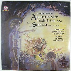 ROCHESTER PHILHARMONIC Mendelssohn-Midsummer Ni...Scherzo ZINMAN LP (SEALED)