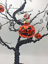 Halloween Tree W/ Ornaments Gnarled Wire Mirrors Jack-o-Lanterns Pumpkins