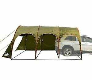 Family Camping Tunnel Tent Top Canopy Cover for Car Trailer BBQ Waterproof Po...