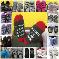 """Women Men """"If You Can Read This Bring Me a Beer """" Printed Sock  Wine Socks Lot"""