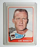 1965 Topps Baseball #64 Lou Burdette Card Chicago Cubs