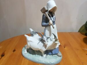 "Royal Copenhagen ""Girl with Goats"" Figurine - A/F"