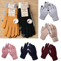 Smart Touch Screen Gloves Women Men Warm Winter Stretch Knit Mittens Full Finger