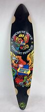 "WARPED TOUR VANS 37"" Longboard Downhill PINTAIL quality skateboard 8.7 x 37"" D35"