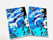 25ct BLUE SHARK MYLAR PACKAGING 3.5 4x6inch SAME DAY SHIPPING