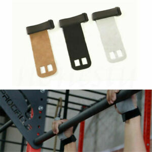 Leather Hand Crossfit Grip Gymnastics Guard Palm Protectors Glove Pull Up Bar