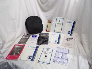 Aviation VFR Pilot Aluminum Kneeboard Clipboard Pluss info Books & Bag