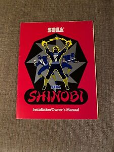 Shinobi video arcade game Installation/Owners Manual, Sega 1987