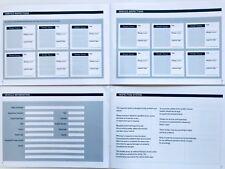 SUZUKI Service Book  New Unstamped History Maintenance Record