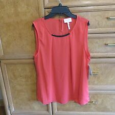 Women's Laundry by Shelli Segal coral sleeveless blouse size L brand new NWT $69