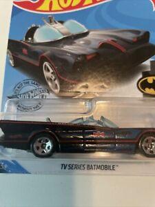 2017 Hot Wheels Batman Classic TV Series Batmobile Black - Blue Flames 118/250