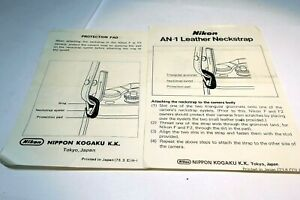 Nikon An-1 Neck Strap Brochure Photography Guide EN 1970's for F and F2 Photomic